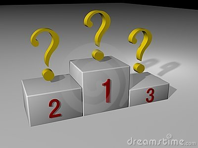 Podiums and Question Marks