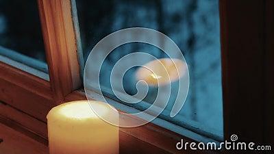 Podmuchowy out świeczka zdjęcie wideo