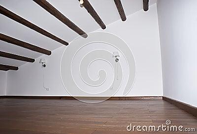 Podłoga twardego drzewa pokój