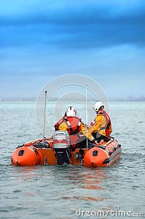 Podpalana Dublin łódź ratunkowa
