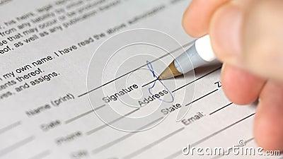 Podpisywanie dokumentu zakończenie up zbiory