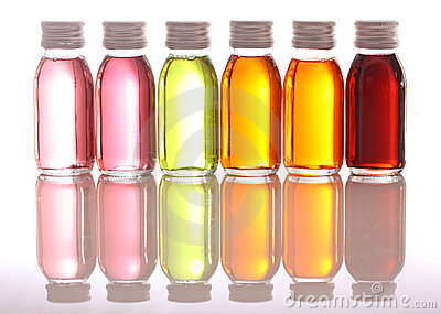 Podstawowe oleje butelki