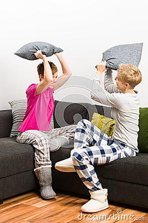 Poduszki walka