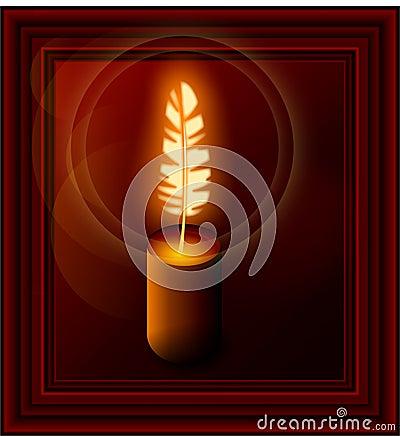 Poetic candle