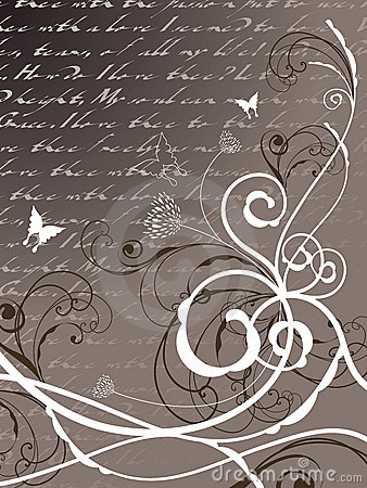 Free Poetry Floral Butterfly Swirl Stock Photography - 4516922
