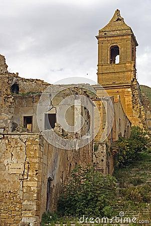 Poggioreale ruins, bell tower