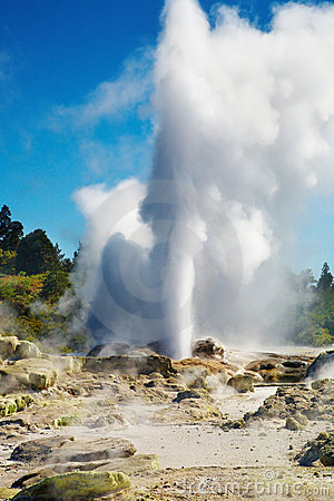 Free Pohutu Geyser, New Zealand Royalty Free Stock Image - 11411626