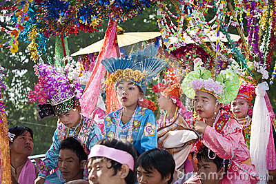 Poi Sang Long festival, A Ceremony of boys Editorial Stock Image
