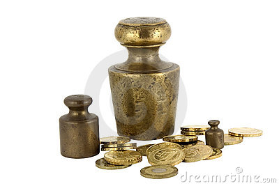Poids et pièces de monnaie