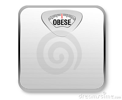 Poids obèse d échelle