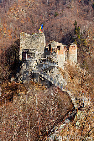 Poienari fortress of Dracula