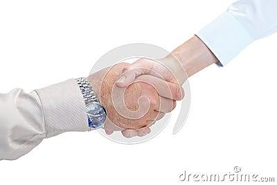 Poignée de main d affaires