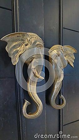 Poignée De Porte D'éléphant Photo stock Image: 53930397
