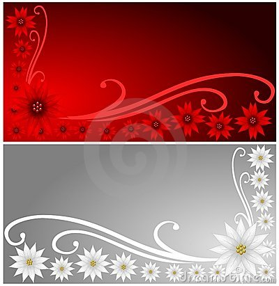 Poinsettia Banners