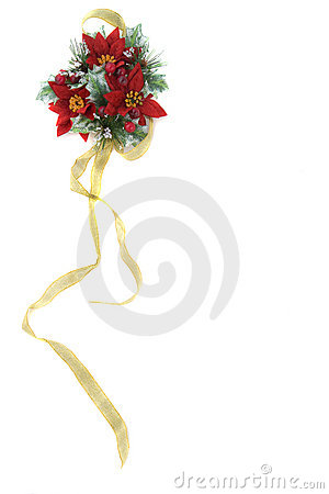 χρυσή κορδέλλα poinsettia διακο&s