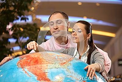 Point on globe