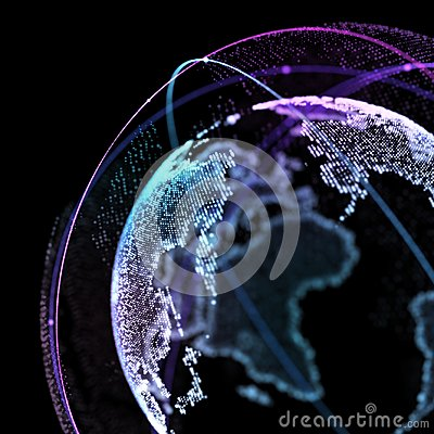 Free Point, Line, Satellite Surface Composed Of Circular Graphics, Global Network Connection,international Meaning. 3d Royalty Free Stock Photos - 108385758