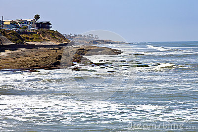 Point Loma San Diego beaches and surf California.