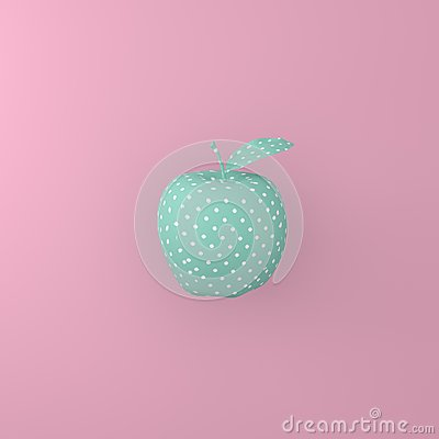 Free Point Pattern White On Green Apple On Pink Background. Minimal I Royalty Free Stock Images - 105634369