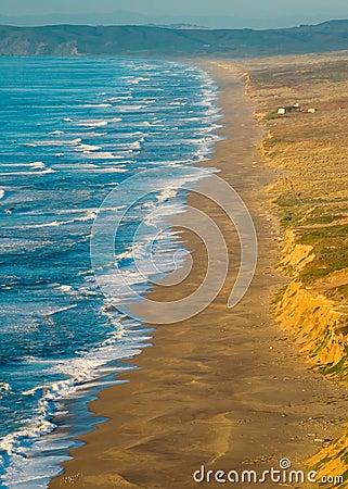 Free Point Reyes Beach At Sunset Stock Photos - 382103