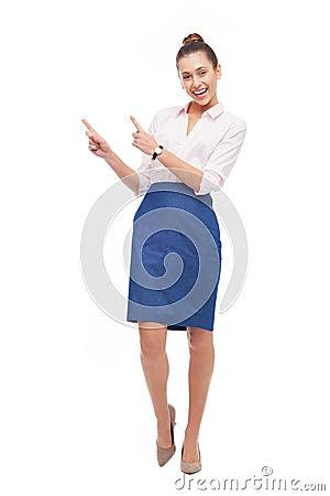 Pointage de femme d affaires