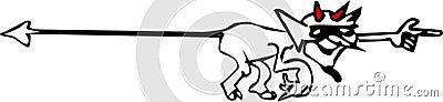Pointage du dessin animé de diable