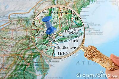 Pointe de carte de New York
