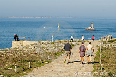 Pointe du raz in brittany france in summer 2010 Editorial Stock Photo