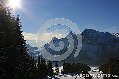 Pointe Percée from Ski Piste