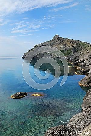 Pointed cape Kapchik on the Crimean coast.