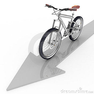 Pointer of motion of bicycle