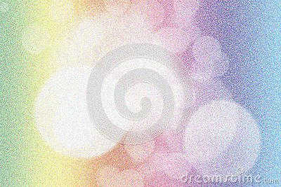 Pointillized colorful bokeh abstract background Stock Photo