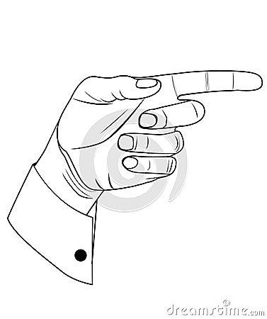 Pointin hand