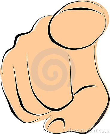Finger Pointing At You Clipart