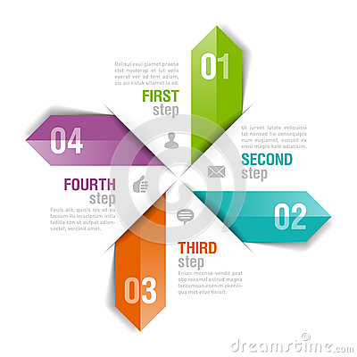 Infographics template arrows