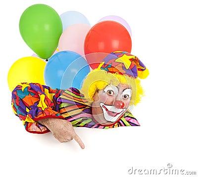 Pointing Clown Design Element