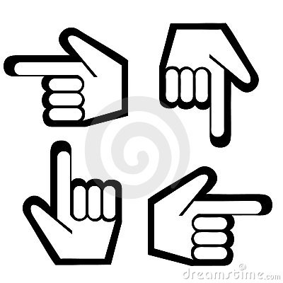 Free Pointing Finger Graphic Stock Photos - 9297783