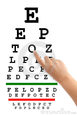 POINTING HAND AND EYESIGHT TEST CHART (click image to zoom)