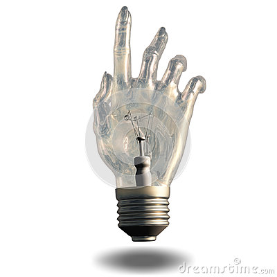 Pointing light bulb
