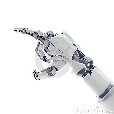 Pointing robotic arm