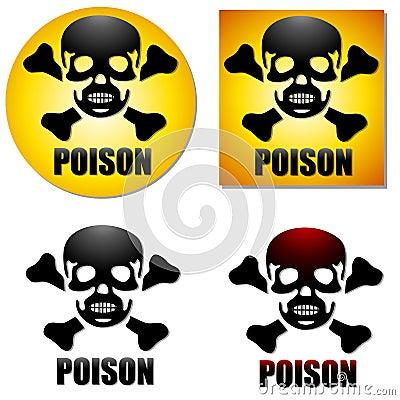 Poison Skull Crossbones Symbols