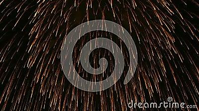 Pokaz fajerwerków Nowoletnie świętowanie fajerwerków zdjęcie wideo