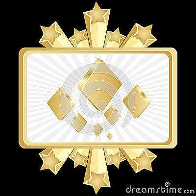 Poker banner-rhombus