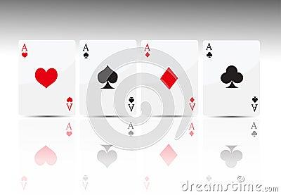 Poker card 4 ace