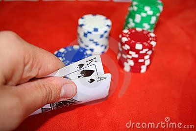 Poker, cards and chips