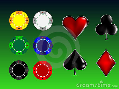 Poker cards signs