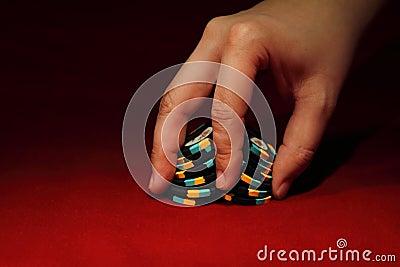 Poker chip shuffle
