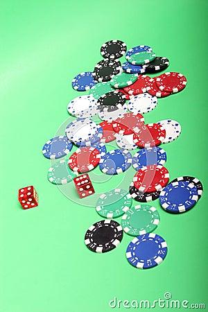 Free Poker Chips Royalty Free Stock Photo - 1261995