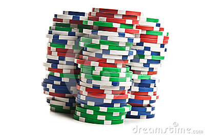 Poker chips isolated