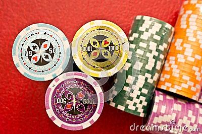 Poker chips stacks